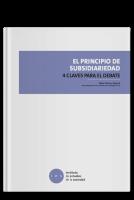 El principio de la subsidiaridad