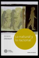 Lo natural y lo racional